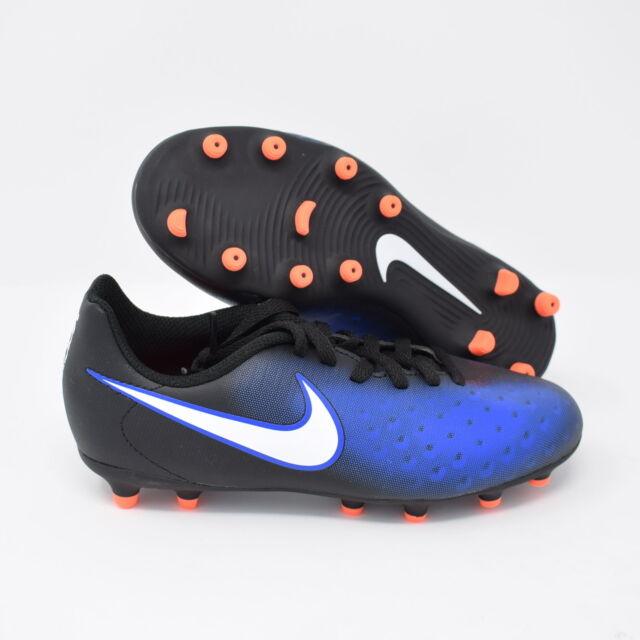 5975bf57b15cb Nike JR Magista OLA II FG 844204-016 Black White   Blue Kids Youth Cleats