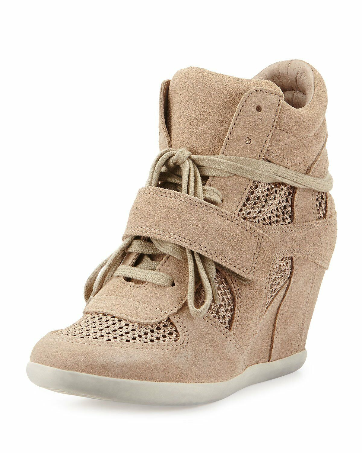 83baa080615a A By Ash Limited ASH Bowie Mesh Wedge Sneakers Size 40 US 10 Biscuit ...