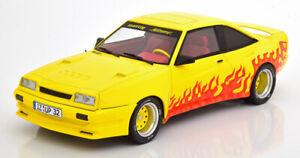 Opel-Manta-B-Mattig-1991-gelb-orange-1-18-MCG-Modellautos
