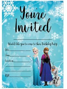 Image Is Loading FROZEN BIRTHDAY PARTY INVITATIONS DISNEY PRINCESS ANNA AND