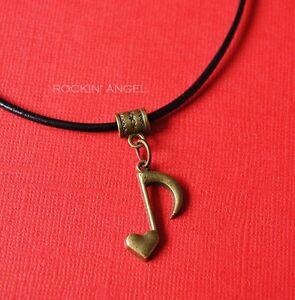 Vintage-Bronze-plt-Heart-Music-Note-Pendant-Necklace-Ladies-Men-Girls-Gift