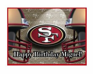 Image Is Loading 49ers Edible Cake Topper