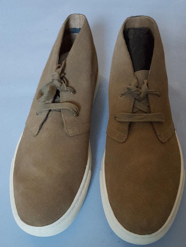 RALPH LAUREN para hombre JOPLIN Oscuro Bronceado Informal Zapato Zapato Zapato De Gamuza Superior Cuero D 8a1492