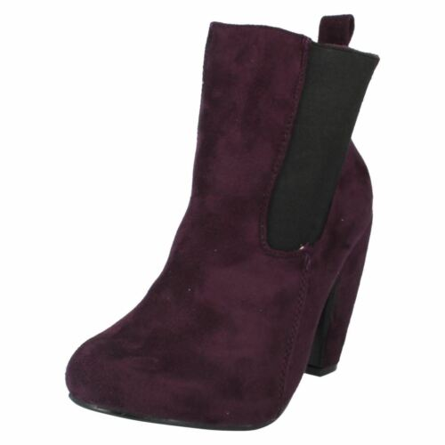 Ladies F50020 textile pull on ankle boots by SPOTON SALE Was £15.00 Now  £5.99