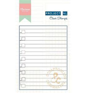 Motiv-Stempel-Clearstamps-Liniertes-Papier-Filofax-Marianne-Design-PL1511