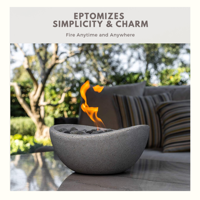 Terrific Portable Tabletop Fire Pit Table Fireplace Gel Patio Decoration Stone Fire Bowl Home Interior And Landscaping Transignezvosmurscom