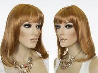 Medium Long Straight Razor Cut Skin Top Wigs
