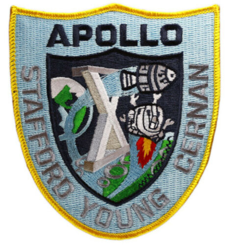 11cm x 10cm approx Official Patch Apollo 10 Mission Embroidered Patch
