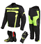 thumbnail 1 - Motorbike Cordura Jacket Trouser Hi viz Motorcycle Leather Shoes Boots Suit Free
