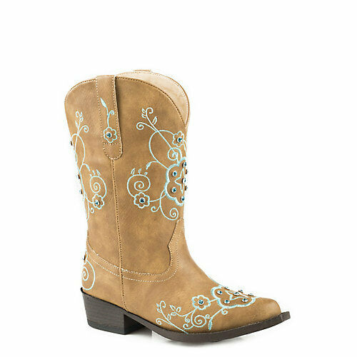 Roper Kids  Flower Sparkles Square Toe Boots  clients first reputation first