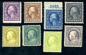 USAstamps-Unused-FVF-US-Washington-Franklin-Scott-502-513-OG-MHR