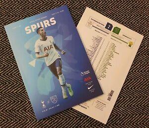 Tottenham-Spurs-v-Norwich-Matchday-Programme-22-1-20-FREE-POSTAGE-WITHIN-U-K