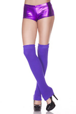 Leg Warmers Purple Footless Thigh High Hosiery NWT Women's One Size