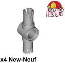 Lego Technic- 4x Pin 3L Friction Ridges center pin gris/light b gray 87082 NEUF