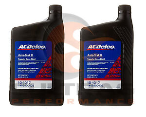 Genuine-GM-ACDelco-Auto-Trak-II-Transfer-Case-Fluid-33-8oz-Set-Of-2-88900402