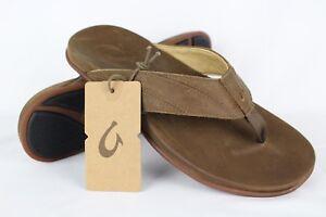 73caa157392c New Olukai Men s Pikoi Flip Flop Comfort Sandals 9m Ray Brown ...