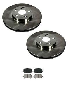 2003 2008 toyota corolla matrix 2 front brake rotor ceramic pads ebay. Black Bedroom Furniture Sets. Home Design Ideas