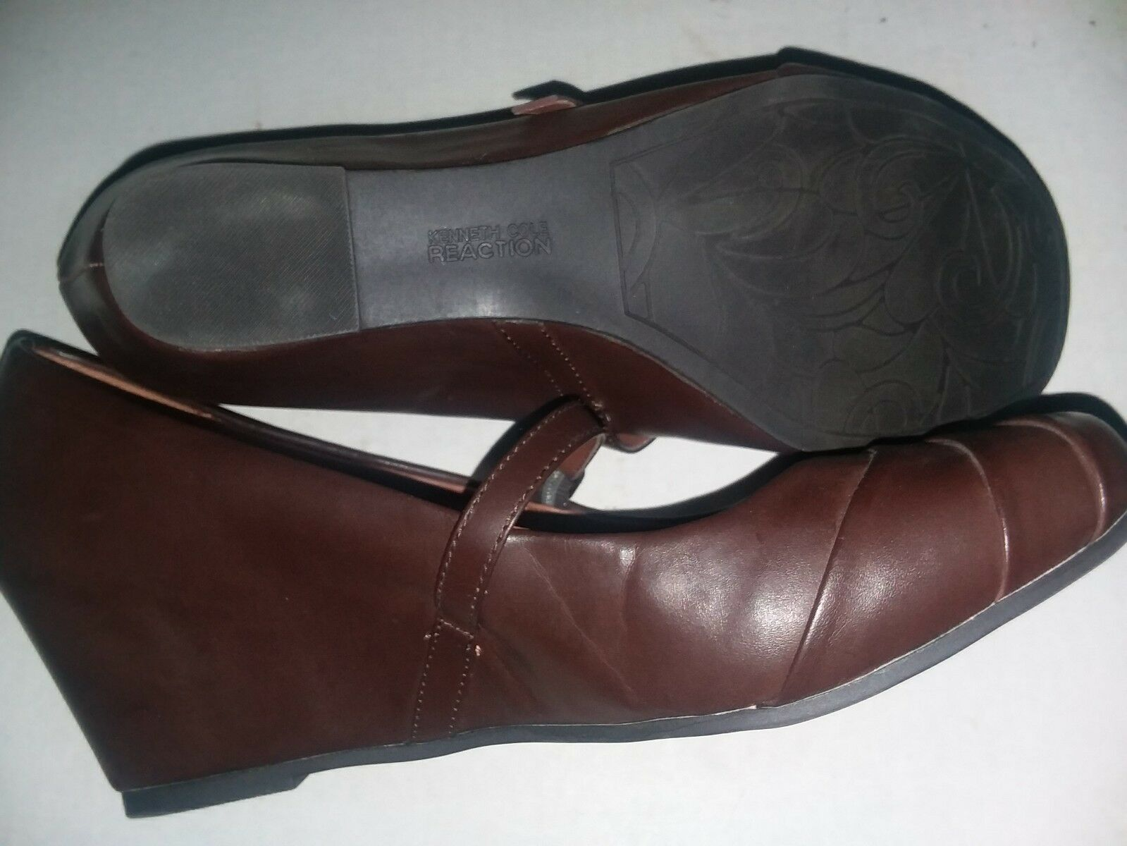 Kenneth Cole Reaction Women Shoes Size 9 Brown faux Leather