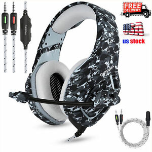 ONIKUMA K1 Stereo Bass Surround Gaming Headset for PS4 New Xbox One PC with Mic 6971192216354