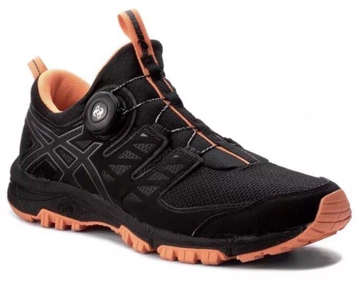 Asics Mens Gel-Fujirado Black Carbon Orange Trail Running Shoe T7F2N.9097 Sz 6.5