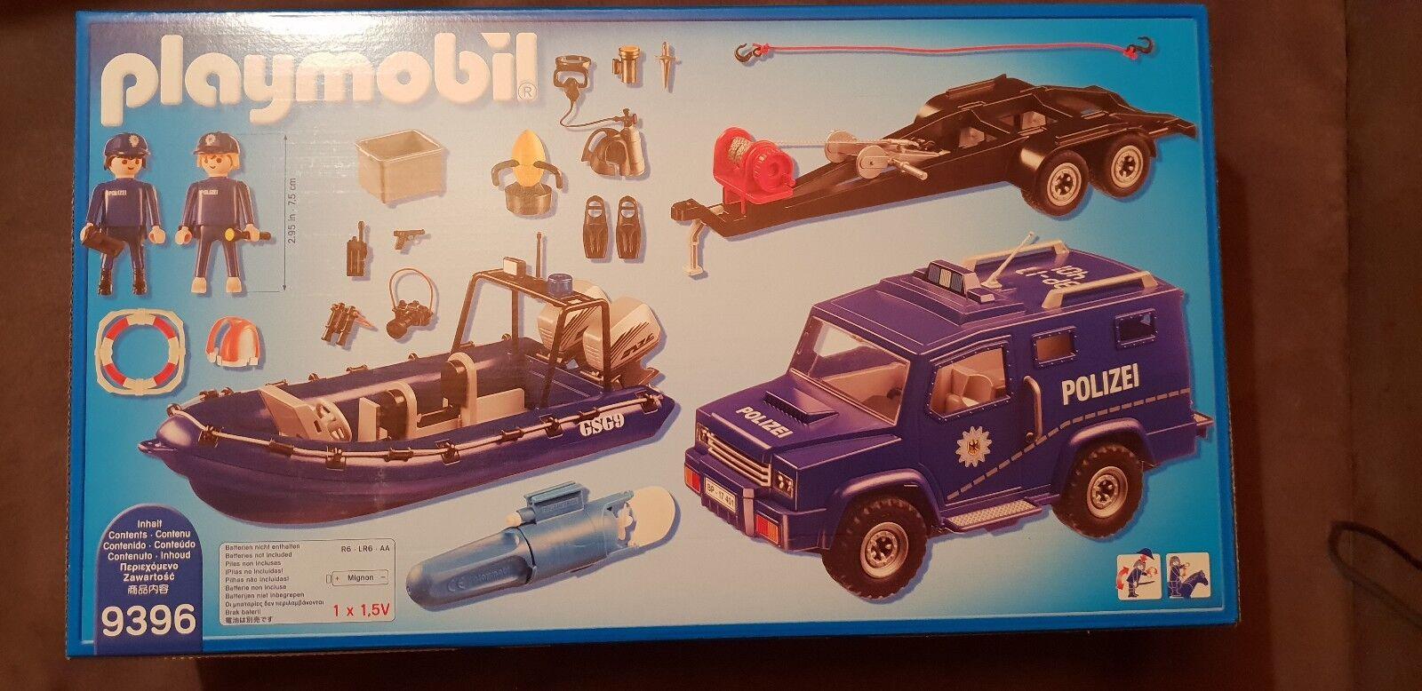 Playmobil Bundespolizei Bundespolizei Bundespolizei 9396 Stiefel mit Trailer und Zugfahrzeug 12aa8f