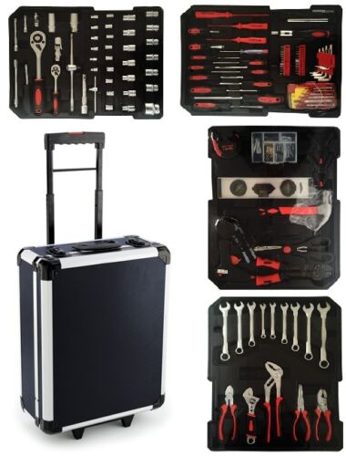 700pcs Tool Set Case Mechanics Kit Box Organize Castors Toolbox Trolley New