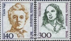 Berlin (West) 848-849 (compl. Edition) Mint 1989 Large Women