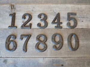 Image Is Loading Cast Iron Metal House Numbers Street Address Full
