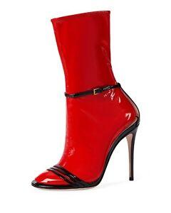 a4f3c5ff2da New In Box Gucci Ilse Patent 110mm Sock Liner Sandal Pumps Sz 35.5 ...