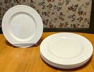 Set-of-6-MIKASA-CIARA-Bone-China-9-1-4-034-Salad-Plates-White-Embossed-Swirl-Lot