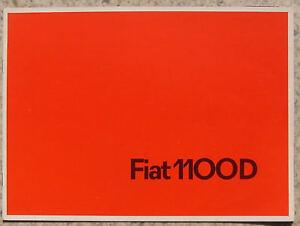 FIAT 1100D Car Sales Brochure Catalogue c1967 #1942