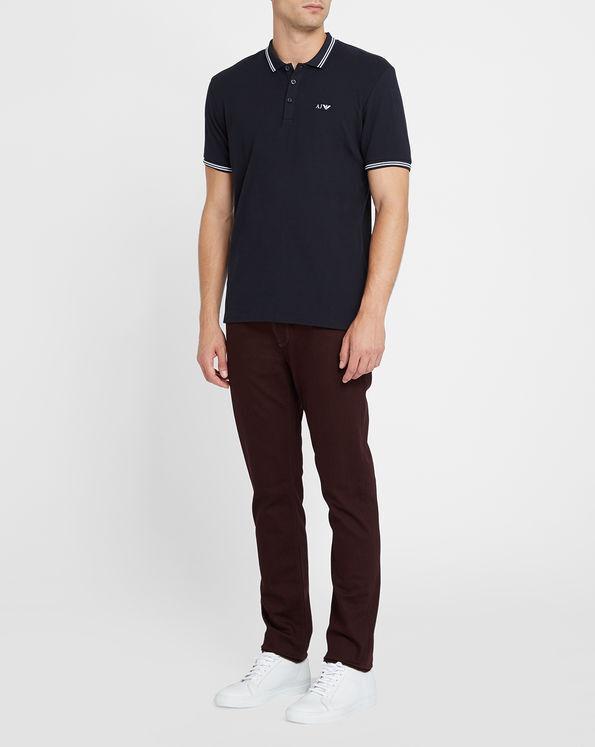 ARMANI JEANS DA UOMO NAVY cotone maglietta slim fit fit fit Polo Shirt Tutte Le Taglie 26d04e