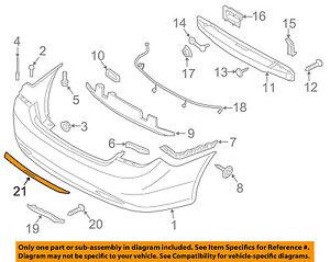 Details About Hyundai Oem 11 14 Sonata Rear Bumper Protector Guard Sill Plate 3q027adu00