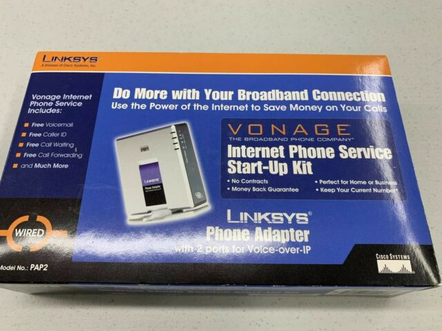 VoIP  Linksys PAP2 With 2 Phone Ports Phone Adapter