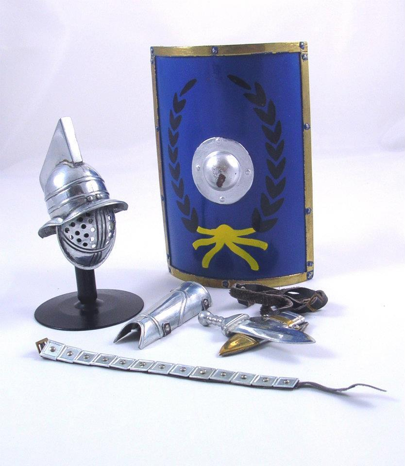 Elite Brigade by Cotswold battagliaDamaged Gladiator Myrmillo Kit argento ARM76