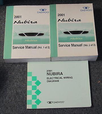 2002 daewoo nubira wiring diagram 2001 daewoo nubira service manual set ebay  2001 daewoo nubira service manual set