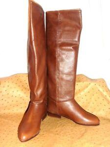 bottes marrons talon plat