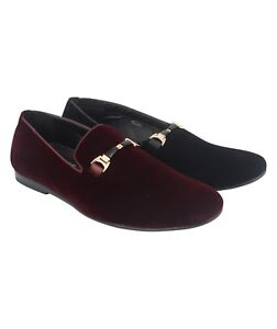 b64b5037d55 Mens Shoes Velvet Suede Slip On Loafers Moccasins Stylish Maroon ...
