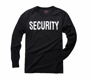 New-Mens-Army-Style-Security-Uniform-Long-Sleeve-Security-T-shirt-Tee