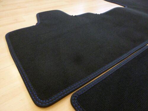 Doppelnaht BLAU NEU Maß $$$ Lengenfelder Fußmatten passend für BMW i3 I3