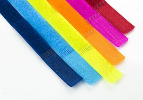 7x Colorful Strap Wrap Wire Cord Organizer Cable Holder Tie Rope Fastener