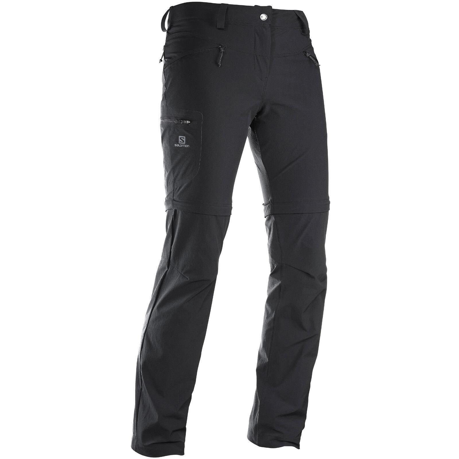 Salomon Outdoor Wayfarer Zip Pant Damenschuhe Hiking Outdoor Salomon Trousers Removable Legs dc8b47