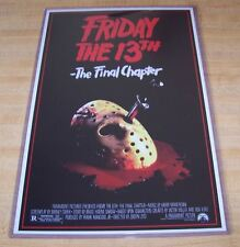 Friday the 13th The Final Chapter Jason Voorhees 11X17 Original Movie Poster