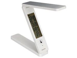 Détails Sur Lampe Led Chevet Sans Fil Rechargeable Pliable Calendrier Temperature Alarme