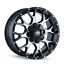 Mayhem-Warrior-8015-Black-and-Machined-20x9-18mm-8x170-8x165-1-Dodge-Ram-Ford miniature 1