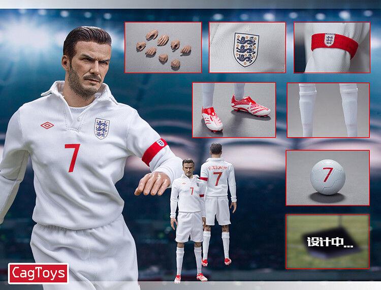 Pre-orden cagJuguetes 12In escala 1 6 figura de acción para David Beckham