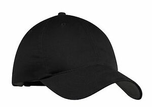 NEW-NIKE-GOLF-BLACK-UNSTRUCTURED-ADJUSTABLE-SWOOSH-ON-BACK-BASEBALL-CAP-DAD-HATS