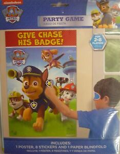 Paw-Patrol-Party-Decoration-amp-Game-Pin-the-tail-on-a-Donkey-Chase