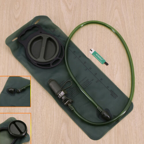 WATER HYDRATION BACKPACK CAMEL PACK BLADDER BAG HIKING CAMPING SPOR ARMY GREEN