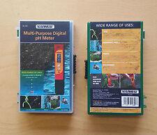 Digital Water pH Meter Gardeners pond aquarium pH meter, tester, with Case